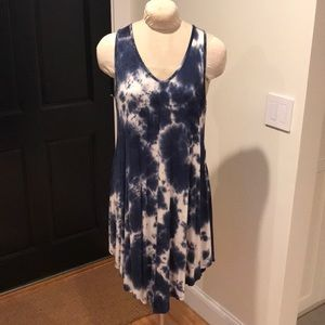 NWOT Ink blue Tie die style dress by Acemi - L